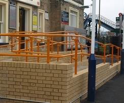 Kee Access DDA handrail for adjustable slope