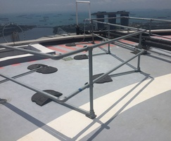 Rooftop fall arrest - Keeguard temporary railing system