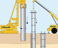 Installing driven, cast in-situ piles