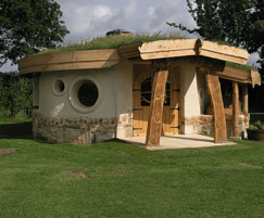 Cob roundhouse with living green roof