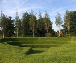 Amphitheatre created with Grassfelt