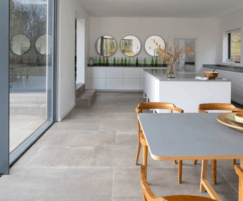 Hessian Grigio porcelain tiles