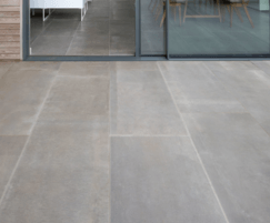 Hessian Grigio porcelain tiles - external application