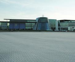 Priora permeable block paving, Mercedes Benz World