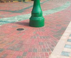 Keyblok Circles concrete block paving at a theme park