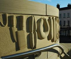 Bespoke carved stone for Chepstow town square
