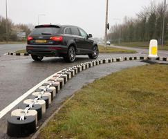 Interlocking traffic blocks