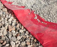 MM380 tanking membrane over sub base with aggregate