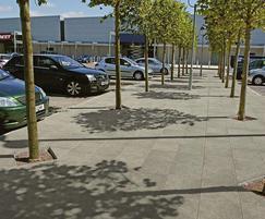 Urbex riven concrete paving flags - Natural