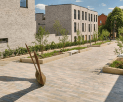 Cambrian sandstone linear paving