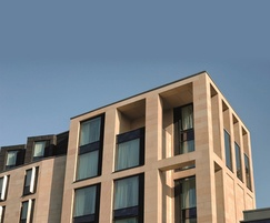 Stanton Moor sandstone facade - Premier Inn