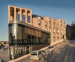 Sandstone facade - Premier Inn, Edinburgh