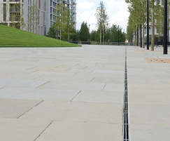 Slot drainage and natural stone paving - Olympic Park