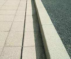 Marshalls Drexus Slot Drain with Saxon paving, Bradford