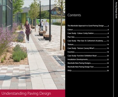 New Understanding Paving Design brochure from Marshalls