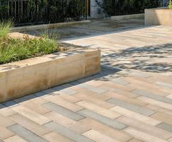 Stonespar linear paving in Vasanta blend