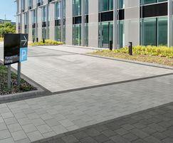 Modal concrete paving, Mid Grey, car park