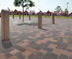 Coppice block paving - Cedar Blend