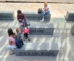 Prospero granite benches with Scoutmoor Yorkstone