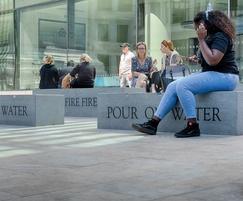 Prospero granite benches - Monument Street