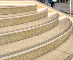 Natural stone paving for retail outlet