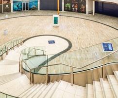 Bespoke marble flooring was supplied for upper floor