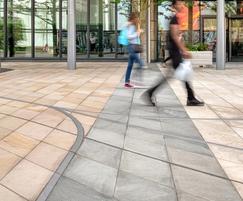 Precision-cut rhombus sandstone paving