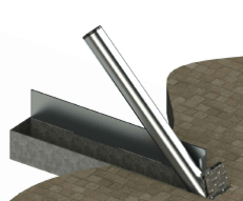 ASF 650 Trough System with galvanised bollard