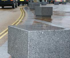 ASF cubist granite bollard / seats
