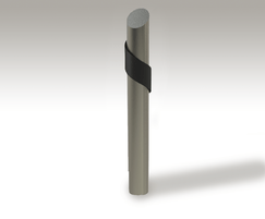 ASF 5009 bollard in grade 316 stainless steel
