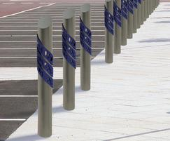 ASF stainless steel bollards made of recycled material