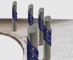 ASF 5009 bollard for Salford urban scheme