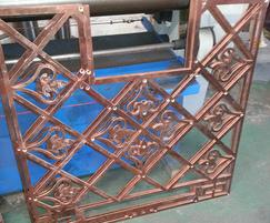 ASF Bespoke Bronze Grille Profiles Prior to Assembly