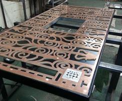 ASF Bespoke Bronze Tree Grille Workshop Mock Up