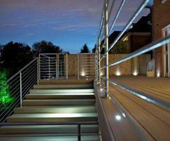 Stainless steel post and rail balustrades