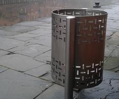 ASF stainless steel litter bin
