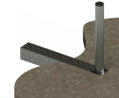 ASF 650 folding steel stainless steel bollard