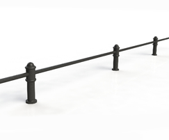 ASF Blenheim Recycled Cast Iron Knee Rail Post