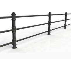 ASF Blenheim 3 Rail Recycled Cast Iron Post