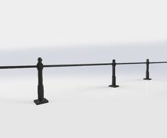 ASF Buckingham Cast Iron Post Knee Rail