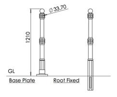 ASF Buckingham Cast Iron Post detail