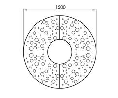 ASF Planet round corten tree grille detail