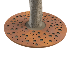 ASF Planet round corten tree grille