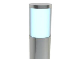 ASF SSL1 Flat Top Stainless Steel Illuminated Bollard