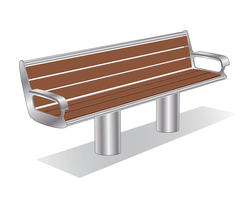 ASF 6012 stainless steel and timber seat