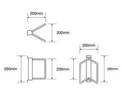 ASF 9013 Steel Cycle Rack drawings