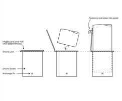 ASF 652 Removable Bollard System drawings