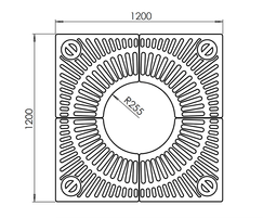 ASF 328 Recycled Cast Iron Tree Grille drawing