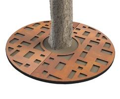 ASF Cubes Round Corten Tree Grille