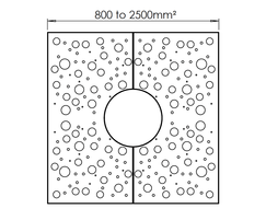 ASF Planet Square Mild Steel Tree Grille drawing